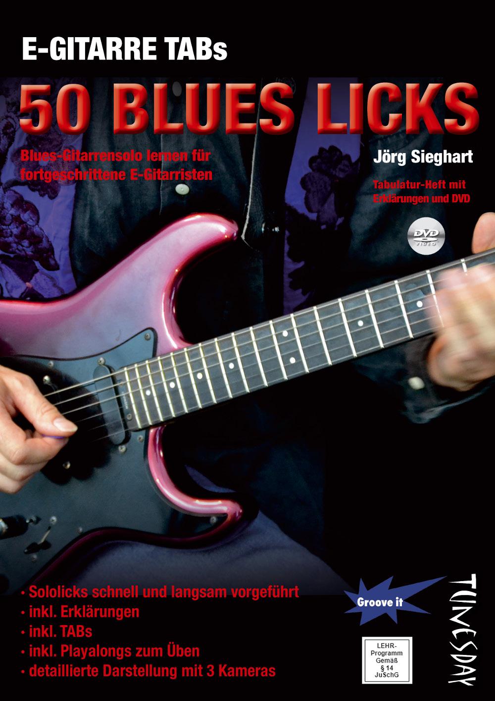 E-Gitarre TABs - 50 Blues Licks - Blues-Gitarrensolo lernen ...