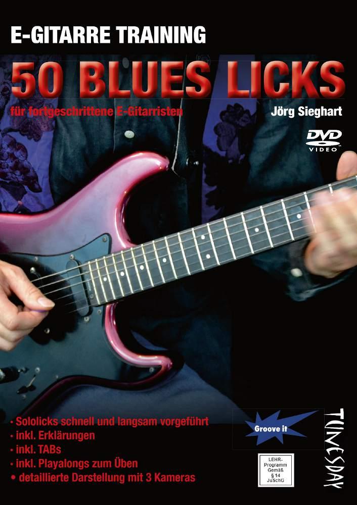 E-Gitarre Training - 50 Blues Licks (Lehr-DVD) tunesdayrecords.de